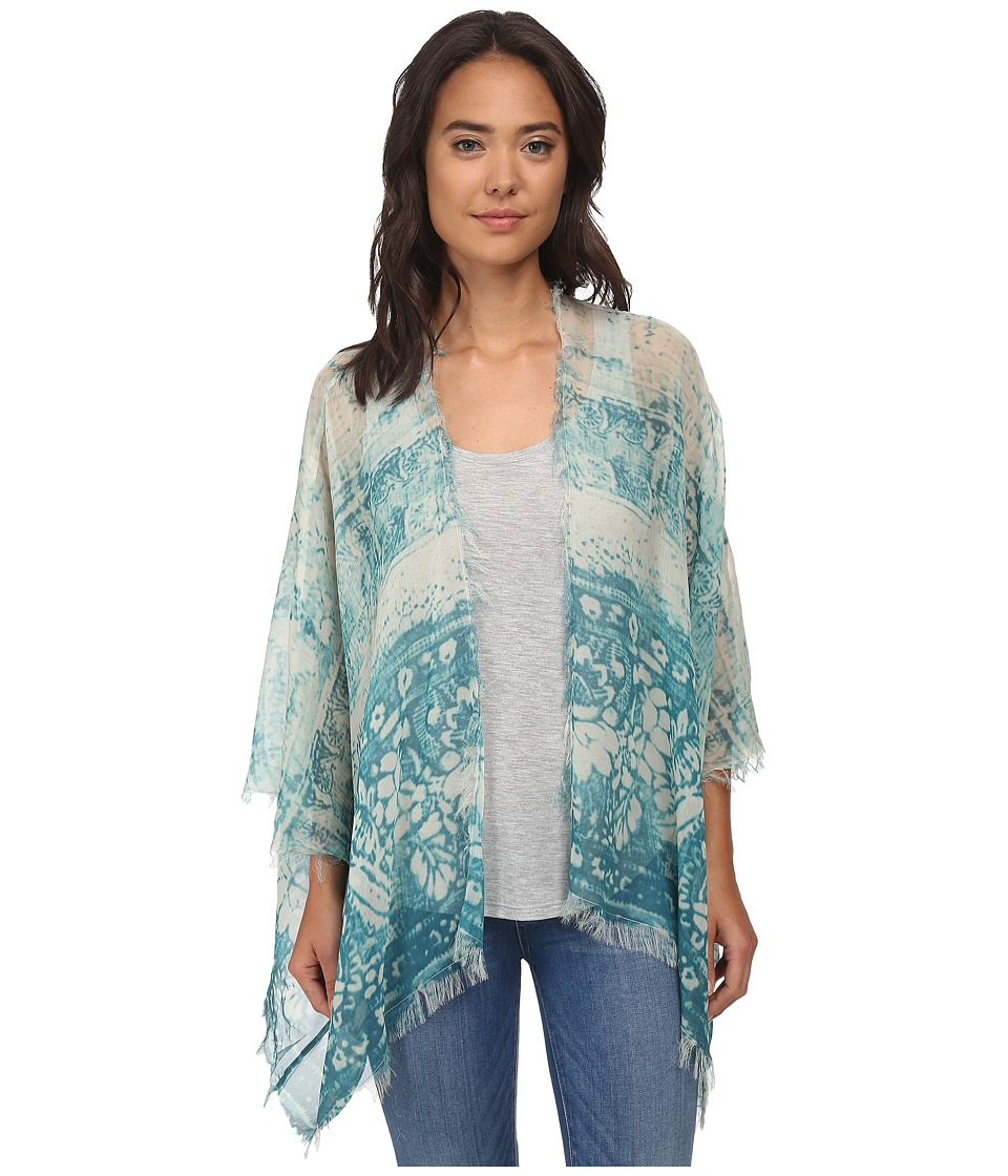 Chaser - Tapestry Voile Kimono (Blue Print) Women's Blouse