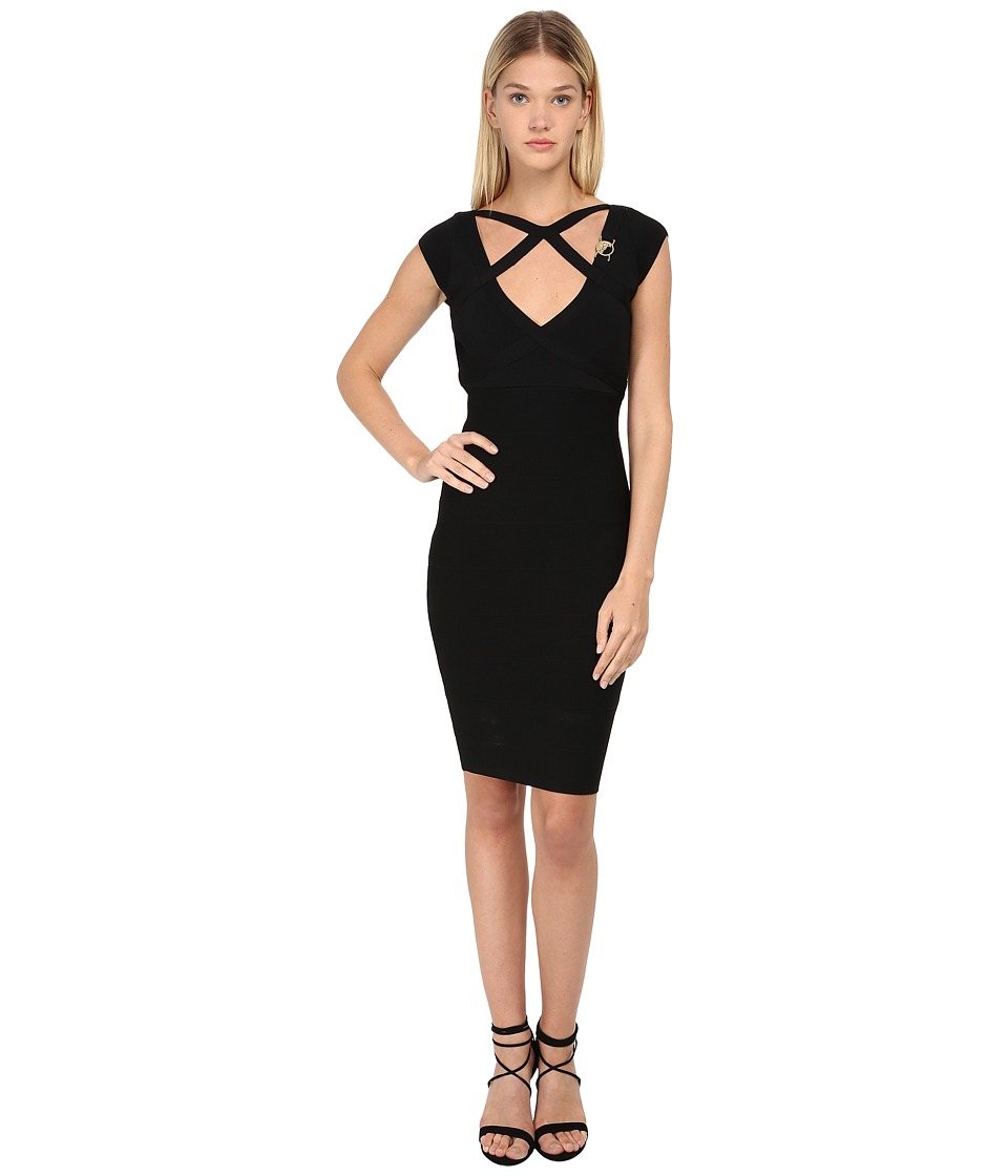Versace Collection Cutout Bandage Dress (Nero) Women