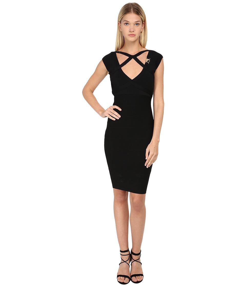 Versace Collection Cutout Bandage Dress (Nero) Women