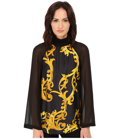 Versace Collection - Long Sleeve Printed Blouse (Multi) Women's Blouse