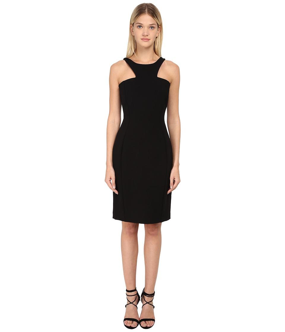 Versace Collection - V-Neck Embellished Dress (Nero) Women's Dress