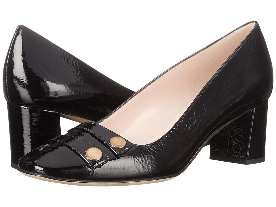 Kate Spade New York - Darsia (Black Crinkle Patent) High Heels