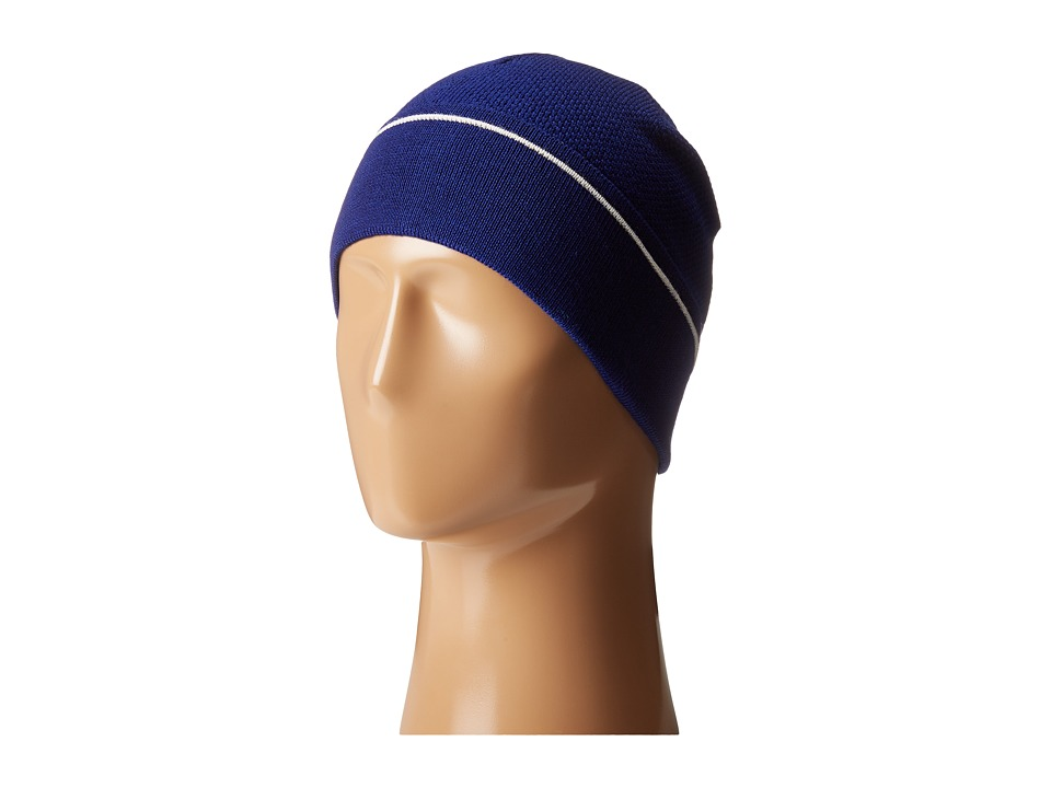 Lacoste - Wool Knit Cap with Tonal Croc (Ocean/Flour) Knit Hats
