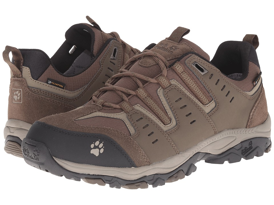 Jack Wolfskin - Mountain Storm Texapore Low (Burnt Olive) Men's Shoes