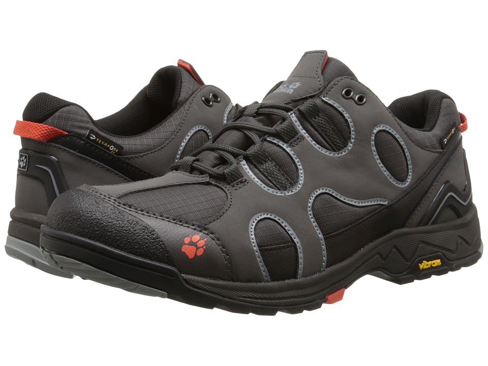 Jack Wolfskin - Crosswind Texapore O2+ Low (Dark Steel) Men's Shoes
