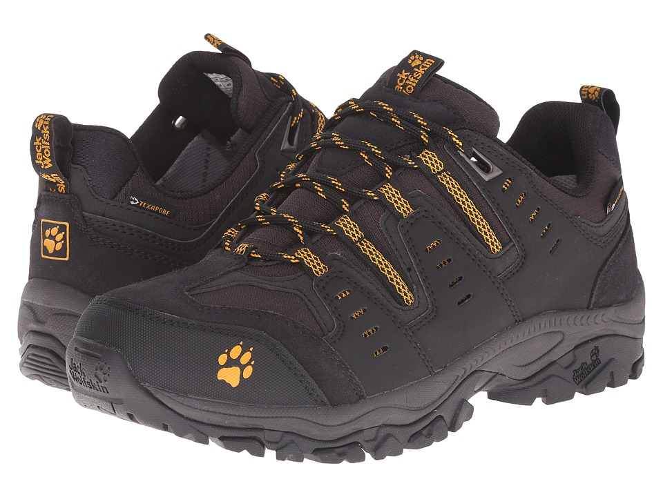 Jack Wolfskin - Mountain Storm Texapore Low (Burly Yellow) Men's Shoes