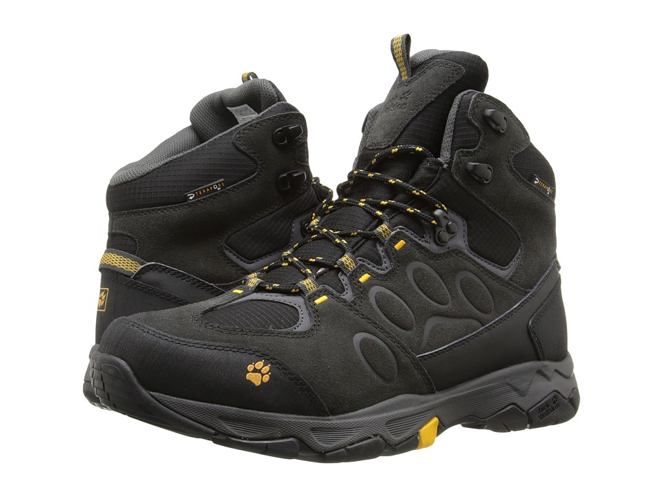 Jack Wolfskin - Mountain Attack 5 Texapore Mid (Burly Yellow) Men's Shoes