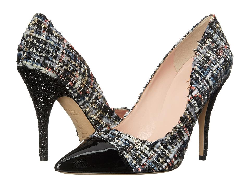 Kate Spade New York - Lacy (Black Multi Star Tweed/Black Patent/Black Glitter Heel) High Heels