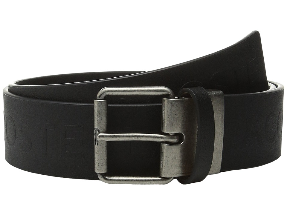 Lacoste - All Over Embossed Logo Belt (Black) Men's Belts