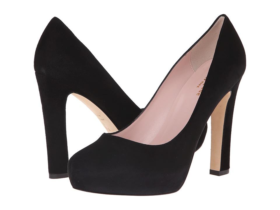 Kate Spade New York - Nessle (Black Kid Suede) High Heels