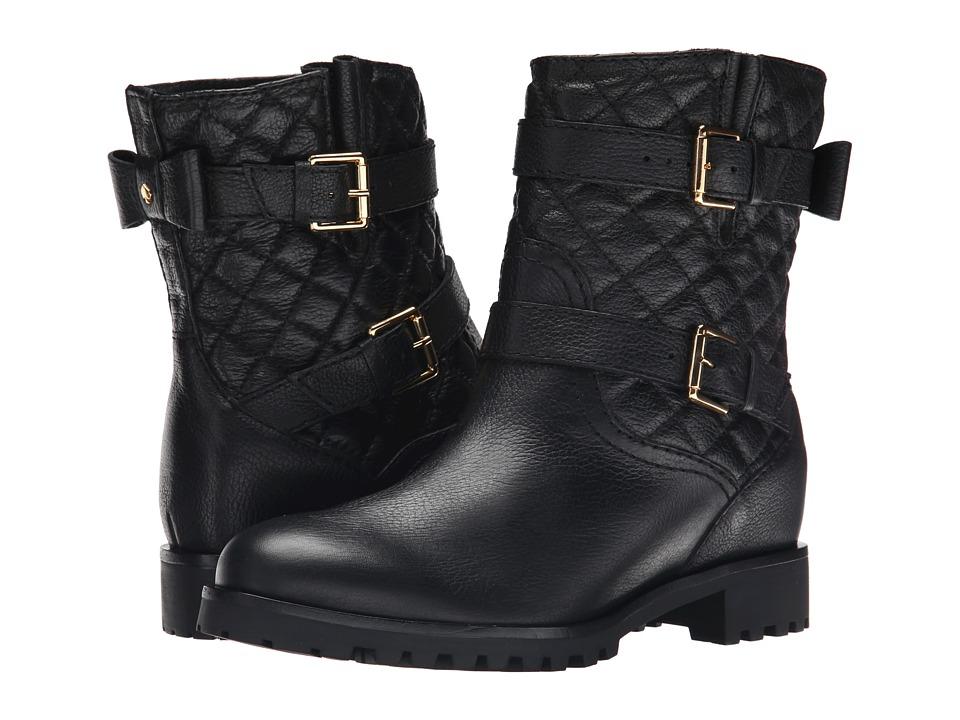 Kate Spade New York - Samara (Black Grainy Calf/Black Quilted Grainy Calf) Women's Shoes