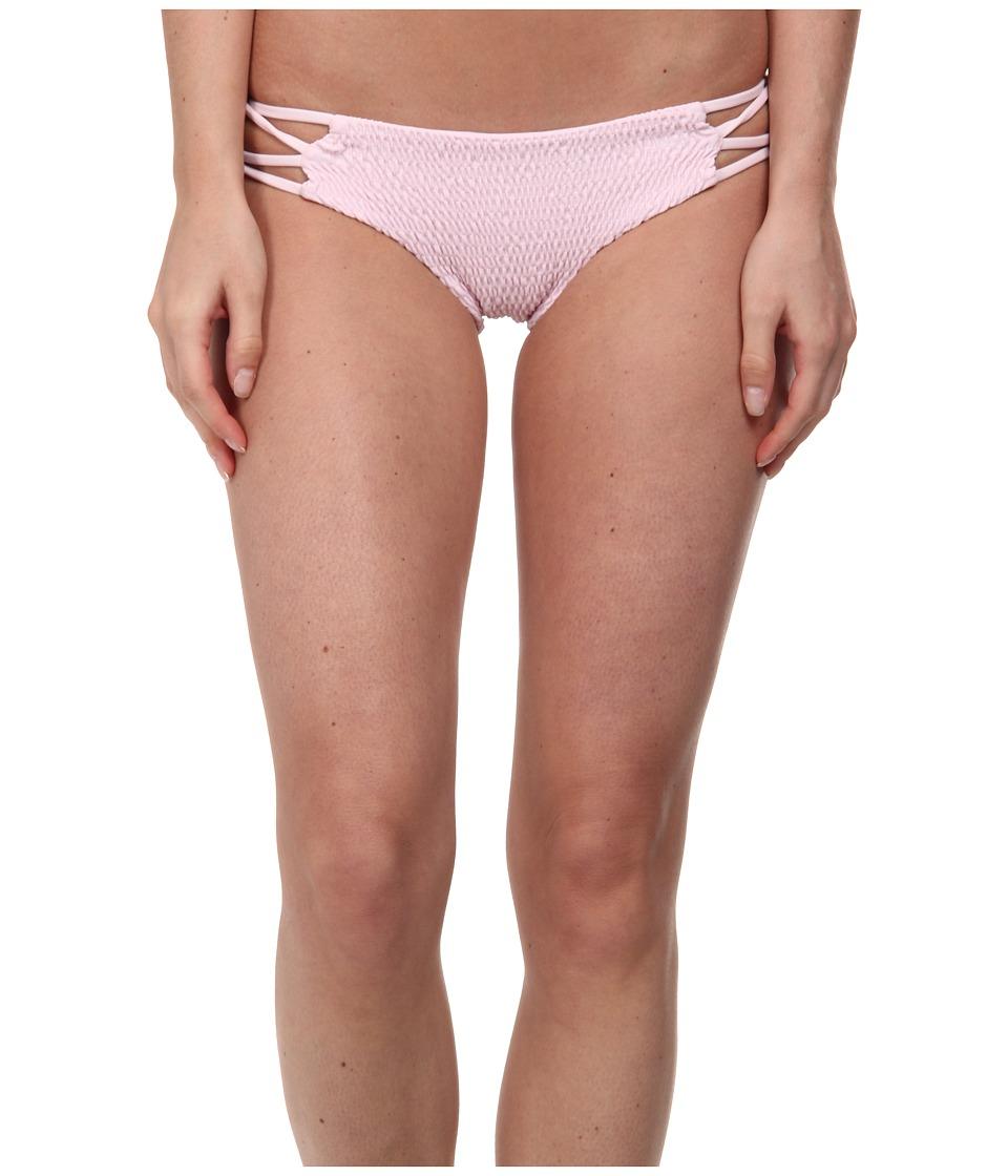 Tori Praver - Nanda Smocked Cutout Side Bottom (Rose) Women's Swimwear