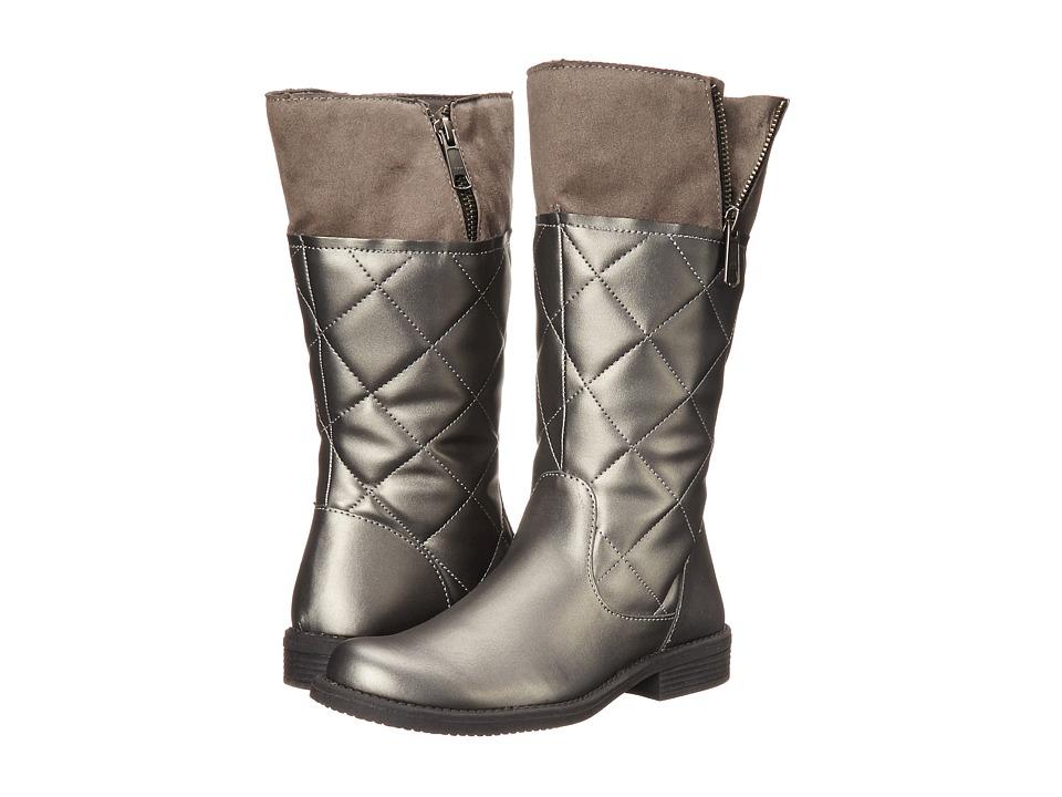 Umi Kids - Quiltee C Waterproof (Toddler/Little Kid/Big Kid) (Pewter) Girls Shoes