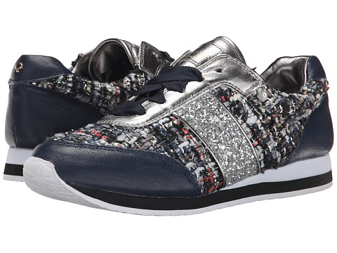 Kate Spade New York - Sidney (Black Multi Star Tweed/Navy Glazed Goat/Silver Glitter) Women