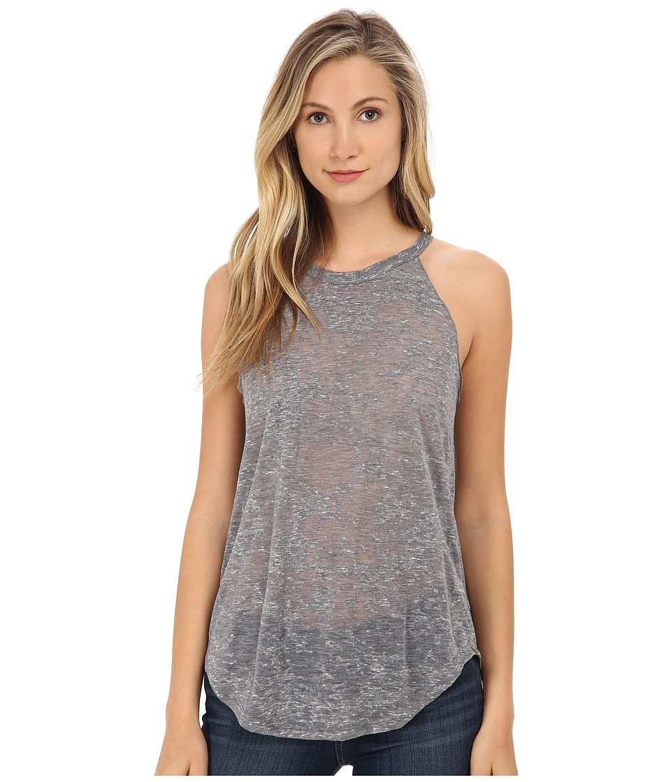 LNA - Burnout Bib Tank Top (Grey) Women's Sleeveless