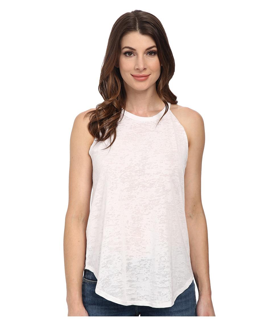LNA - Burnout Bib Tank Top (White) Women's Sleeveless