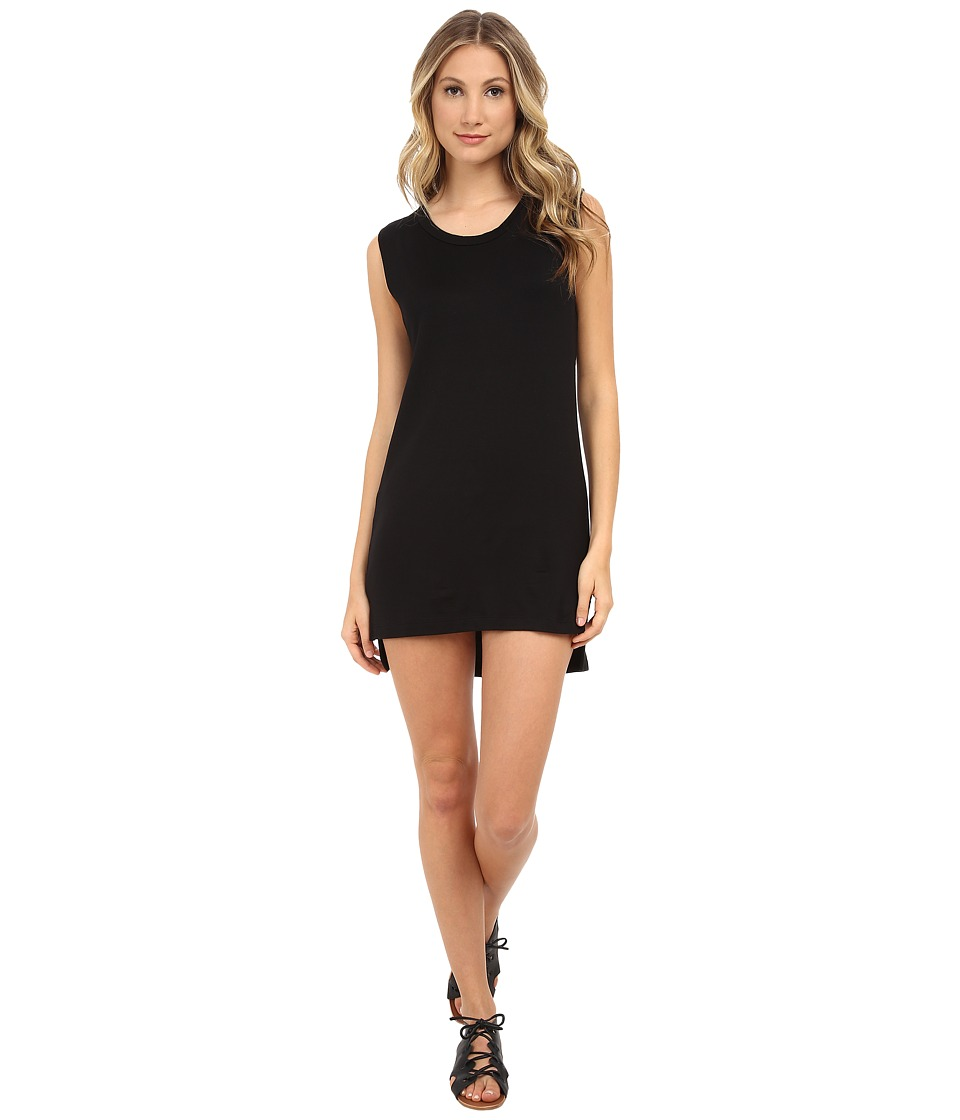 LNA - Open Back Tank Dress (Black) Women's Dress