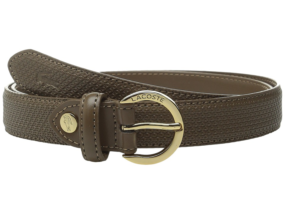 Lacoste - Premium Chantaco Belt (Coffee Liqueur) Women's Belts