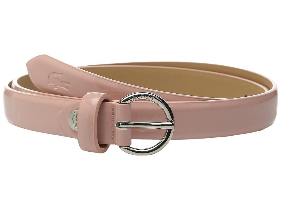 Lacoste - Premium Glossy Belt (Pink) Women's Belts