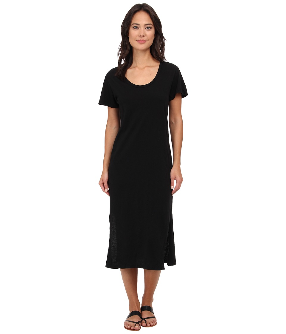 LNA - T-Shirt Midi Dress (Black) Women's Dress