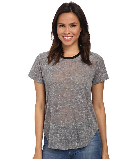 LNA - Ringer Tee (Grey) Women's T Shirt