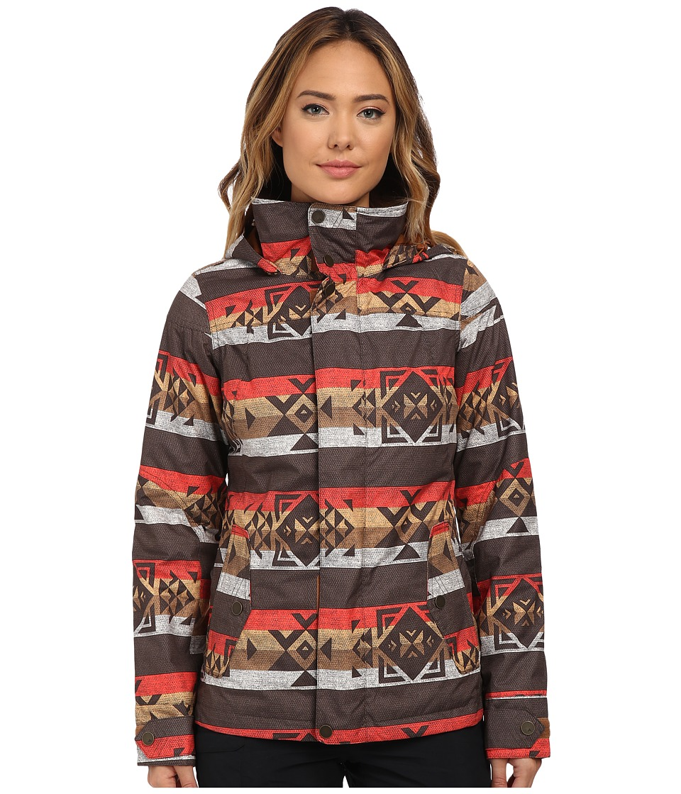 Burton - Jet Set Jacket (Mocha Banded Geo) Women's Coat