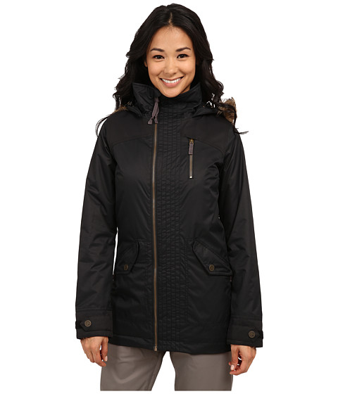 Burton - Hazel Jacket (True Black/True Black Waxed) Women's Coat