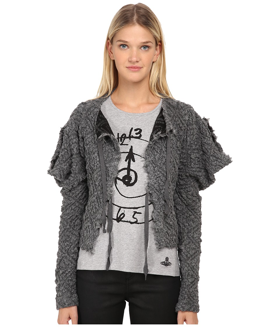 Vivienne Westwood - Cropped Titan Cardigan (Grey) Women's Sweater