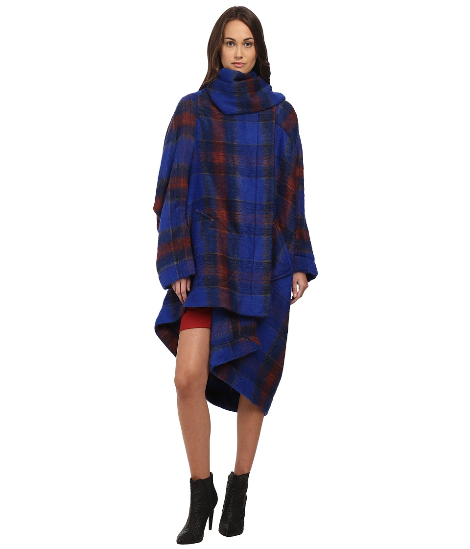 Vivienne Westwood - Blanket Cape (Blue) Women's Clothing