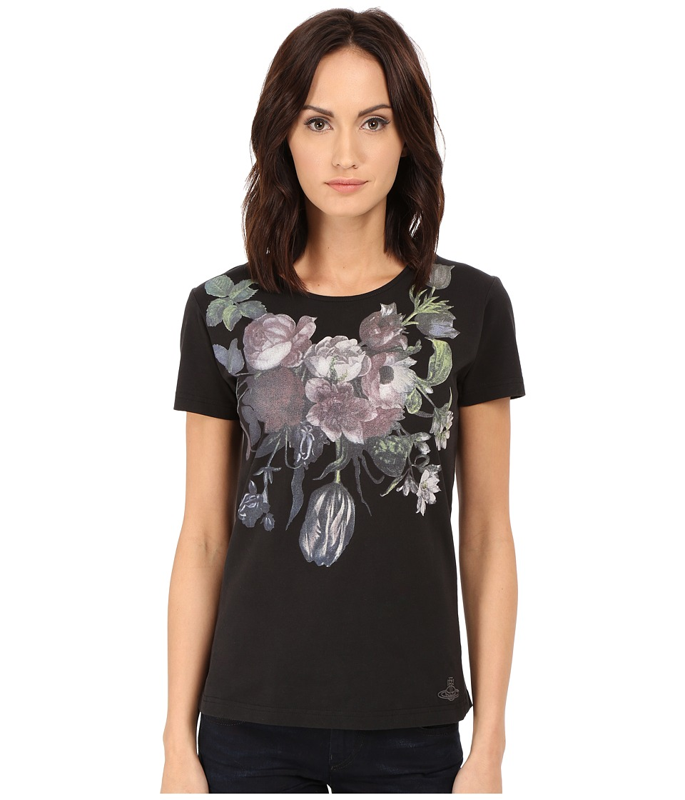 Vivienne Westwood - Flower T-Shirt (Black) Women's T Shirt