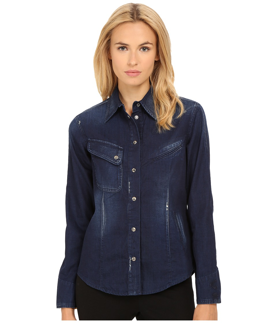Vivienne Westwood - Walker Shirt (Blue Denim) Women's Long Sleeve Button Up
