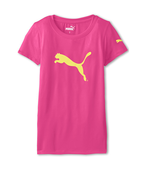 Puma Kids - Tech Tee (Big Kids) (Pink Glo) Girl's T Shirt