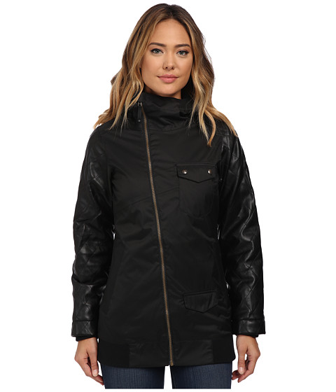 Burton - TWC Maverick Jacket (True Black/Black Leather) Women's Coat
