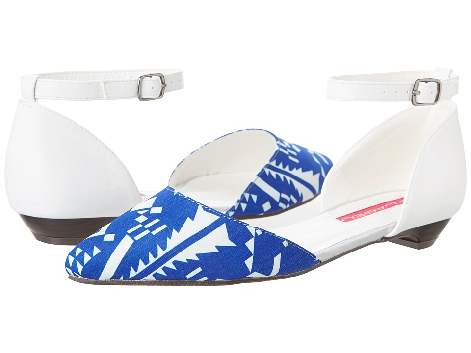 C Label - Hudson-25 (Blue/White) Women's Flat Shoes