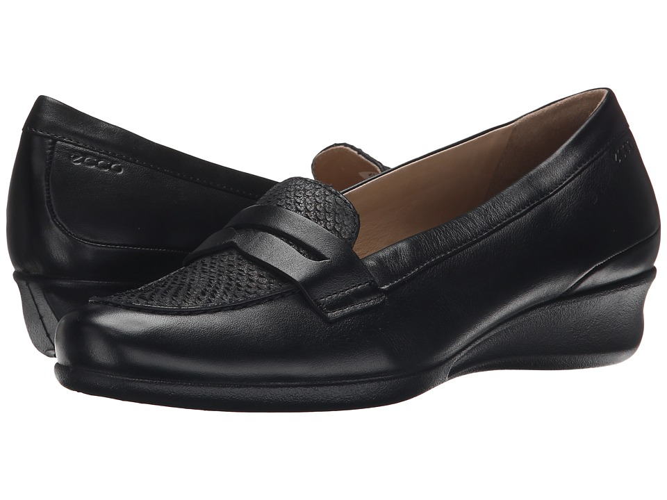 ECCO - Abelone Bit (Black/Black) Women's Shoes