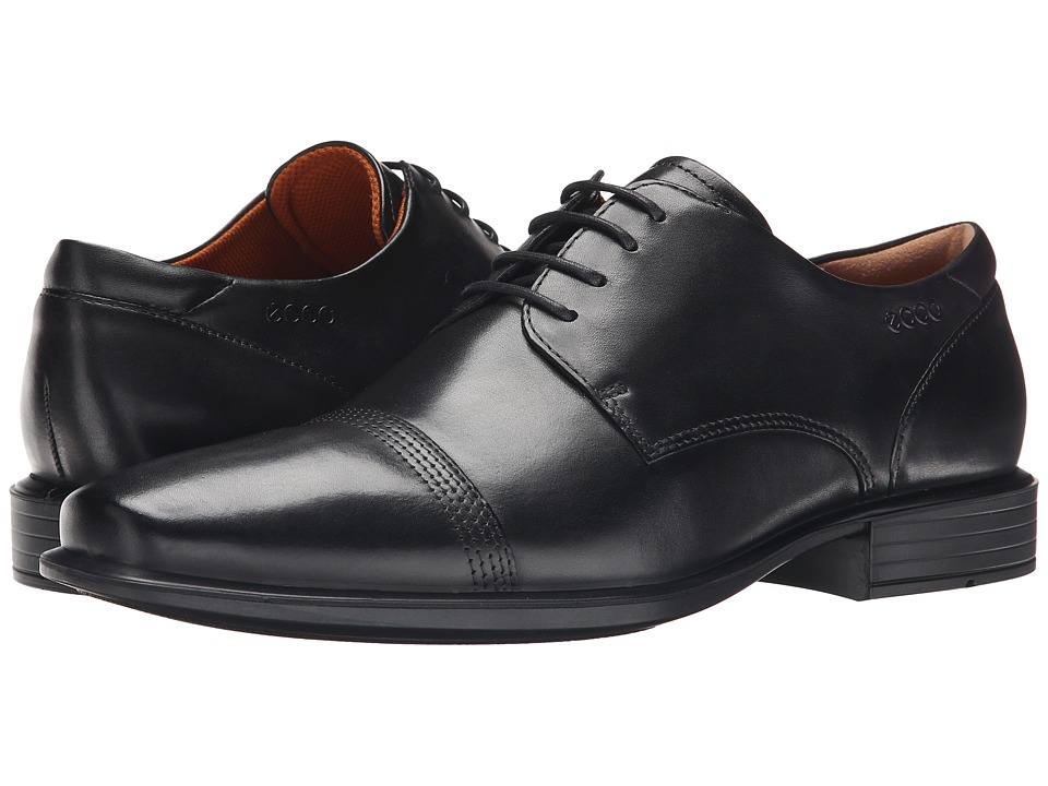 ECCO - Cairo Oxford Cap Toe Tie (Black) Men's Lace Up Cap Toe Shoes