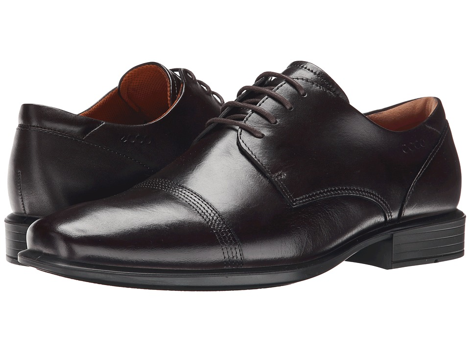 ECCO - Cairo Oxford Cap Toe Tie (Coffee) Men's Lace Up Cap Toe Shoes