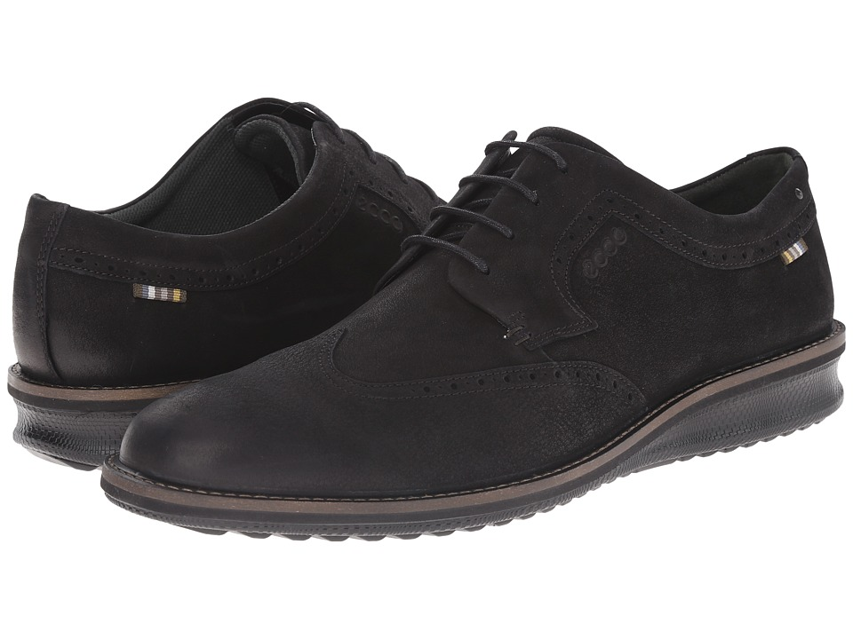 ECCO Contoured Oxford Tie (Black) Men