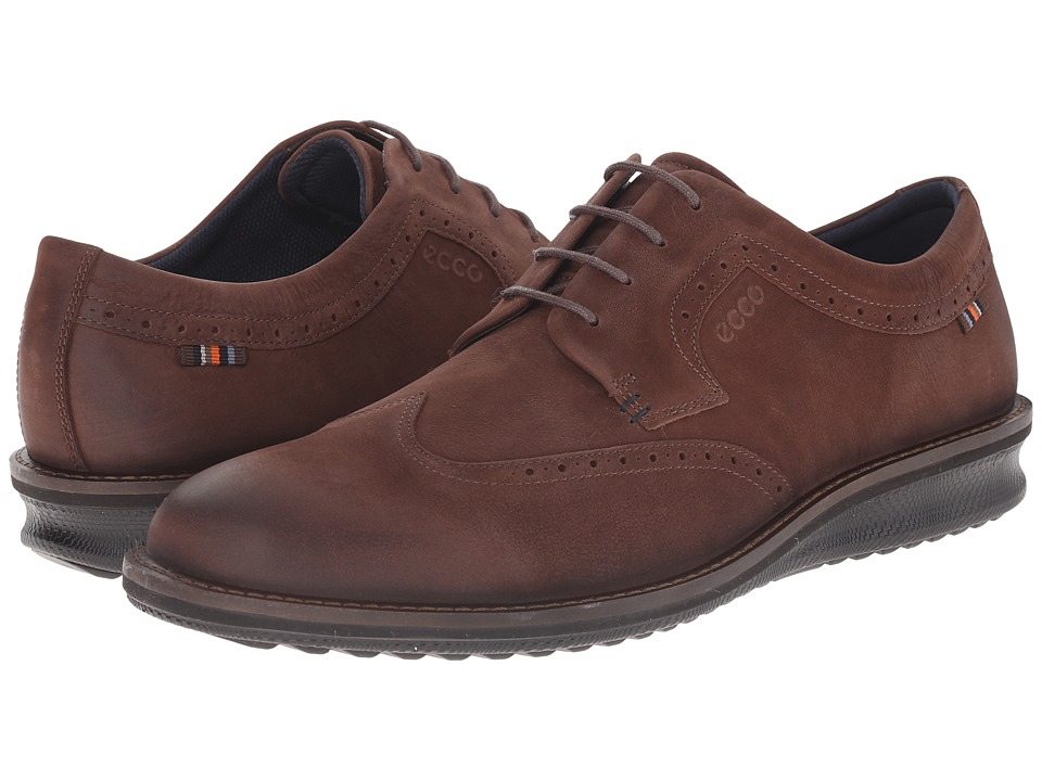 ECCO - Contoured Oxford Tie (Coffee) Men's Lace up casual Shoes