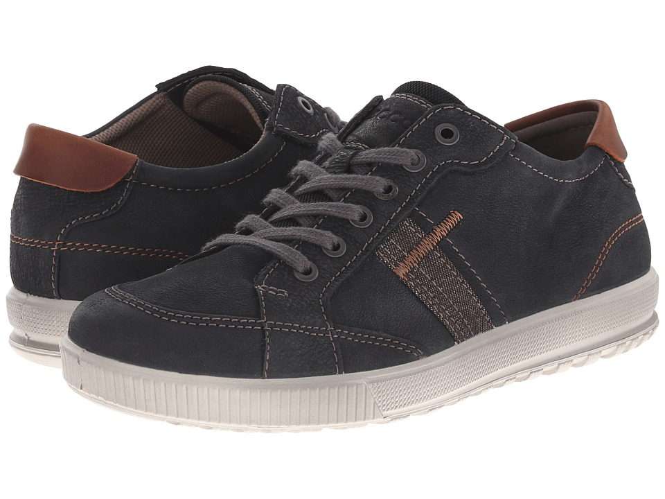 ECCO - Ennio Retro Sneaker (Black/Cognac) Men's Shoes