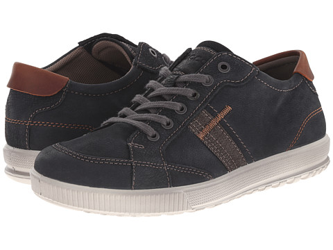 ECCO - Ennio Retro Sneaker (Black/Cognac) Men