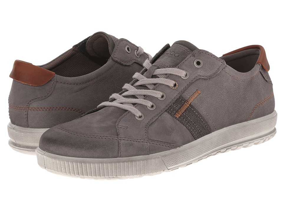 ECCO - Ennio Retro Sneaker (Warm Grey/Cognac) Men's Shoes