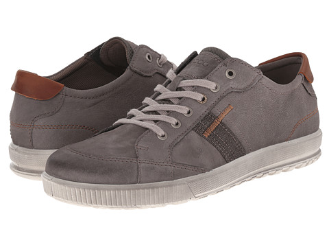 ECCO - Ennio Retro Sneaker (Warm Grey/Cognac) Men