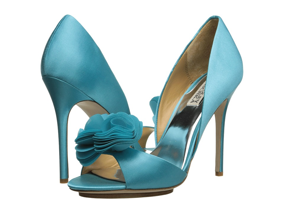 Badgley Mischka - Blossom (Turquoise Satin) High Heels