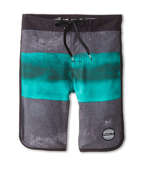 RVCA Kids - Solo Stripe Trunk (Big Kids) (Black) Boy's Swimwear