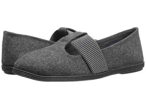 Blowfish - Gracia (Grey Two-Tone Flannel) Women's Slip on Shoes