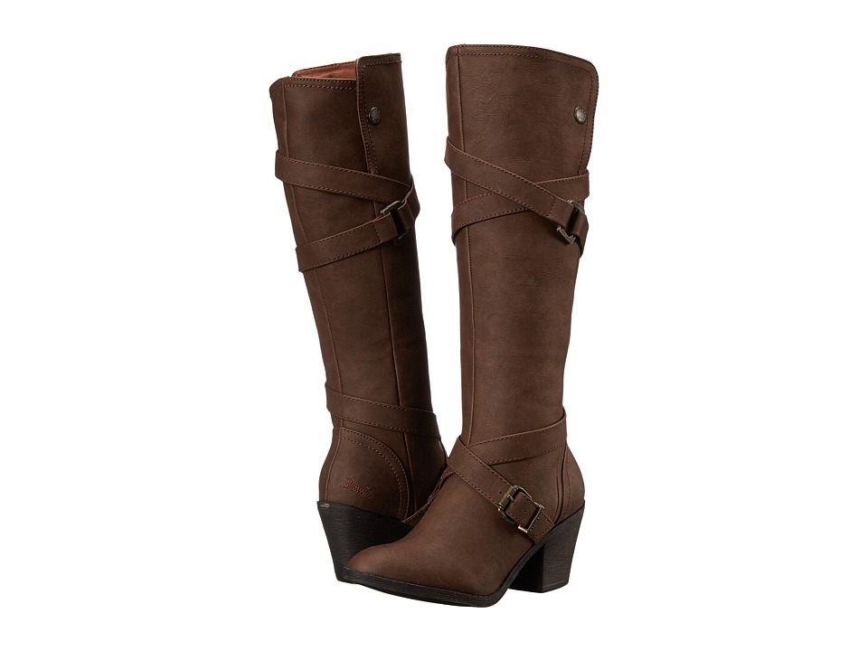 Blowfish - Snaps (Coffee Texas PU) Women's Pull-on Boots