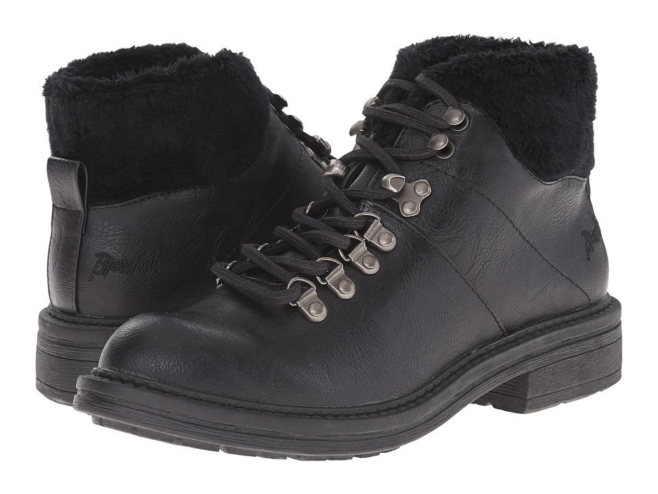 Blowfish - Frin SHR (Black Old Saddle PU) Women's Lace-up Boots