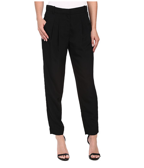Calvin Klein - Trouser Pants w/ Pleat (Black) Women's Casual Pants