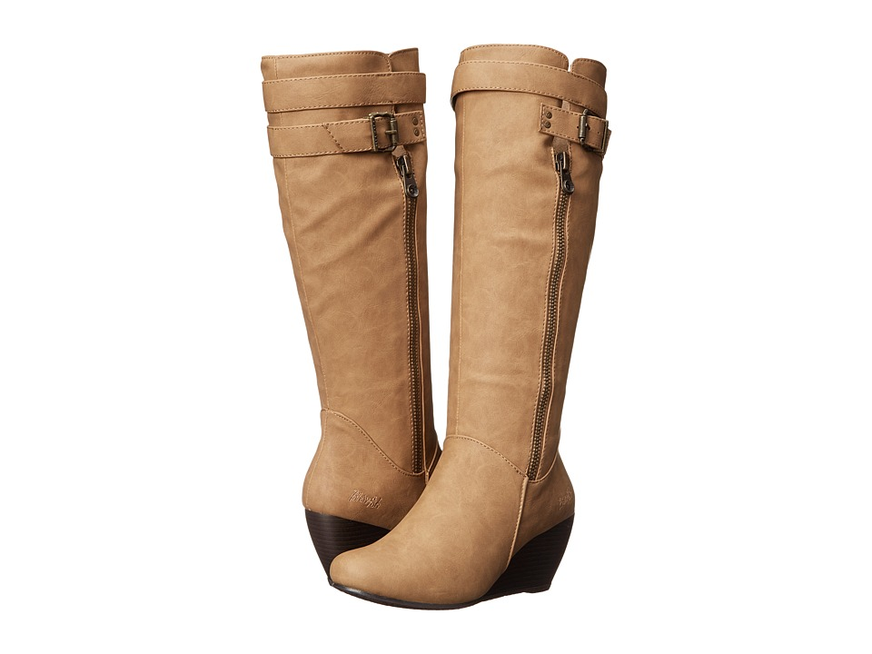 Blowfish - Billis (Sand Texas PU) Women's Zip Boots